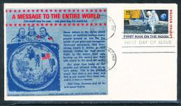 U.S.A. Mondlandung illustrierter Ersttagsbrief Washington 20.7.1969