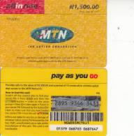 NIGERIA - MTN Prepaid Card N 1500, Used - Nigeria