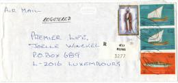 OMAN - 1998 - Registered Air Mail - Ships, Vessels + Costumes - Viaggiata Da Ruwi Per Luxembourg - Oman