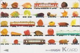 TRAIN - JAPAN - 065 - PREPAID CARD - TRAMWAY - MUSHROOM - Trains