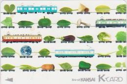 TRAIN - JAPAN - 066 - PREPAID CARD - TRAMWAY - MUSHROOM - Trains