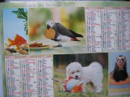 Almanach Du Facteur 2015 Département 68 En Très Bon état. Document PTT. Editions Oberthur - Calendars
