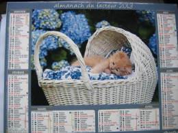 Almanach Du Facteur 2013 Département 68 En Très Bon état. Document PTT. Editions Oberthur - Calendarios