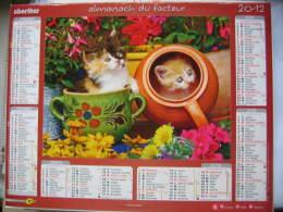 Almanach Du Facteur 2012 Département 68 En Très Bon état. Document PTT. Editions Oberthur - Calendarios
