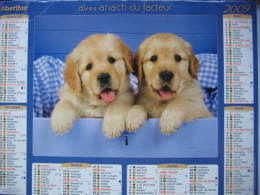 Almanach Du Facteur 2009 Département 68 En Très Bon état. Document PTT. Editions Oberthur - Calendarios