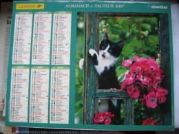 Almanach Du Facteur 2007 Département 68 En Très Bon état. Document PTT. Editions Oberthur - Calendarios