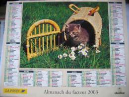 Almanach Du Facteur 2003 Département 68 En Très Bon état. Document PTT. Editions Oberthur - Calendars