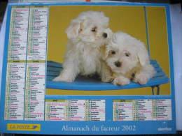 Almanach Du Facteur 2002 Département 68 En Très Bon état. Document PTT. Editions Oberthur - Calendriers