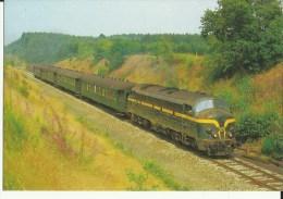 Limerlé -- NMBS - SNCB - Locomotive  Diesel - électrique CC Série 52    (2 Scans) - Gouvy