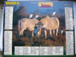 Almanach Du Facteur 2001 Département 68 En Très Bon état. Document PTT. Editions Lavigne - Calendarios