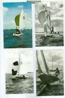 COLLECTIE Van 50 ANSICHTKAARTEN Met ZEILEN - Postkaarten