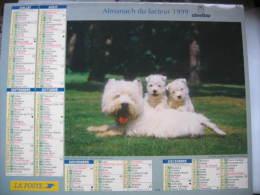 Almanach Du Facteur 1999 Département 68 En Très Bon état. Document PTT. Editions Oberthur - Calendarios