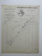 Facture Invoice Litho Leuridan Mulliez Produits Mélassés Usages Agricoles 1914 Horse Cheval - Agriculture