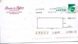 Pap Carte  Flamme Chiffree Entete Domaine Vin Provence Saint Maximin - PAP : Altri (1995-...)