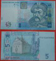 * UNION WITH RUSSIA FOR ETERNITY * Ukraine 5 Grivnas 2005, UNC CRISP! NO RESERVE! - Ukraine
