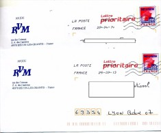 Pap Carte  Flamme Chiffree Entete RVM Anjou Becon - Prêts-à-poster:  Autres (1995-...)