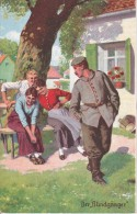 AK Der Blindgänger - Patriotika - Humor - 1. WK (14723) - Humor