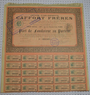 Anciens Ets Caffort Freres - Industrie