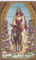"""Jesus On A Donkey, """"Blessed Is He That Cometh In The Name Of The Lord"""",  PU-1909 - Jesus"""