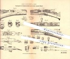 Original Patent - Josef Schulhoff In Wien , 1882 , Repetiergewehr , Gewehr , Waffen , Geschosse !!! - 1914-18