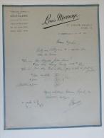 Facture Invoice Brugge St André Singel Louis Morraye Fournitures Générales Bouteilleries1954 - Petits Métiers