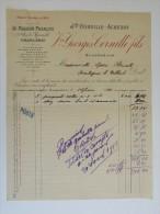 Facture Invoice Charleroi Georges Cornille Fils Magasin Français Merceries Bonneteries Parfumeries 1912 - Droguerie & Parfumerie