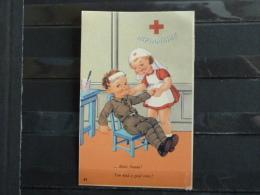 L5 - Humoristique Militaire Et Infirmiere -  ... Dites Aaaaaa! - You Need A Good Tonic - 1945 - Künstlerkarten