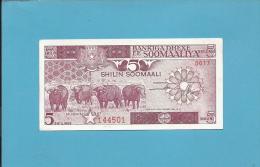 SOMALIA - 5 SHILIN - 1987 - Pick 31.c - UNC.  - 2 Scans - Somalia