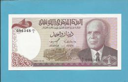 TUNISIA - 1 DINAR - 1980 - P 74 - UNC. - Habib Bourguiba - 2 Scans - Tunisie
