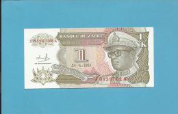 ZAIRE - 1 NOUVEAU LIKUTA - 24/06/1993 - Pick 47 - Sign. 9  - UNC. - Mobutu - 2 Scans - Zaire