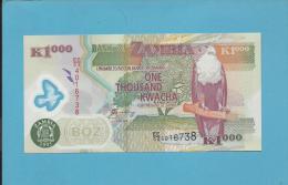 ZAMBIA - 1000 KWACHA - 2005 - Pick 45.d - Sign. 12 - Fish Eagle - Polymer Plastic - 2 Scans - Zambie