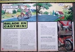 PUBLICITE MOTO CYCLOMOTEUR MOTOBECANE CADY BALADE EN CADYMINI PAR JIDEHEM - Collections