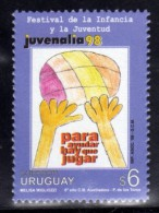 URUGUAY 1998 SERIES (Volleyball, Sports, Childhood, Youth, Game, Children Drawing, Ball, Hand; Deporte, Juventud, Niño) - Volleybal
