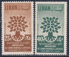 Lebanon, Scott # C284-5 Mint Hinged World Refugee Year, 1960 - Liban