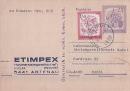 Autriche, Entier Postal + Timbre, Etimpex Aptenau - Basel (4866) - Entiers Postaux