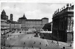 TORINO-PIAZZA CASTELLO E PALAZZO REALE-16-1-1935-REGNO CENT,10 +20 - Places & Squares
