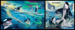 nig15213ab Niger 2015 Whales Orcas 2 s/s