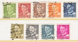 DENMARK  306-14   (o)   1948-50  Issue - Denmark