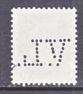 DENMARK  323   (o)   PERFIN   1950-51  Issue - Denmark