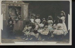 Enfants Theatre De Guignol Le Gendarme Est Battu Bravo !  (sazerac Photo) - Fantaisies