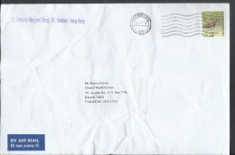 Hong Kong Airmail 2006 Greater Painted Snipe $2.40 Sent To Pakistan. - Covers & Documents