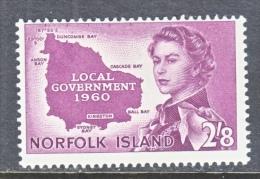 NORFOLK  ISLAND  42    *  MAP - Ile Norfolk