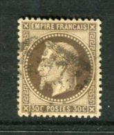 Superbe N° 30 Brun Foncé Cachet GC - 1863-1870 Napoleon III With Laurels