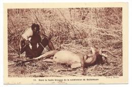 DANS LA HAUTE BROUSSE DE LA SUBDIVISION DE BA�BOKOUM - Tchad, Afrique - Chasse, antilopes... - Braun & Cie, Editeurs....