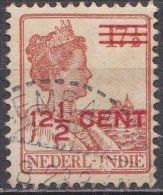 Ned. Indië: Langebalkstempel LEMBANG Op 1921-1922 Hulpuitgifte Koningin Wilhelmina 12 ½  /17 ½  Cent Roodbruin NVPH 142 - Indes Néerlandaises