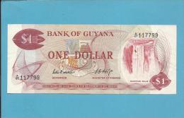 GUYANA - 1 DOLLAR - ND ( 1966-83 ) Sign. 5 - Pick 21.d - 2 Scans - Guyana