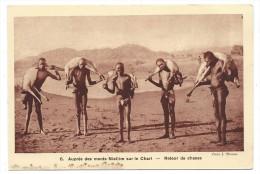 AUPRES DES MONTS NIELLIM SUR LE CHARI, RETOUR DE CHASSE - Tchad, Afrique -  antilopes... - Braun & Cie, Editeurs..
