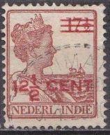 Ned. Indië: Langebalkstempel TJIMAHI Op 1921-1922 Hulpuitgifte Koningin Wilhelmina 12½  /17½  Ct Roodbruin NVPH 142 - Indes Néerlandaises