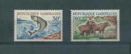 GABON (REPUBLIQUE)  1964   Y.T  171-173  MNH/** BUFFLES ET TARPON - Gabon (1960-...)