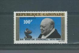 GABON (REPUBLIQUE)  1965 POSTE AERIENNE   Y.T  40  MNH/** CHURCHILL - Gabon (1960-...)